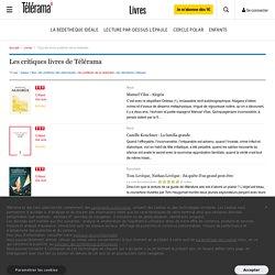 Livres sélectionnés par la rédaction - Livres - Telerama.fr