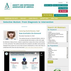 Selective Mutism Webinar