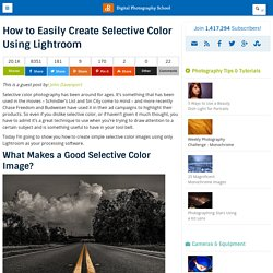 How to Easily Create Selective Color Using Lightroom