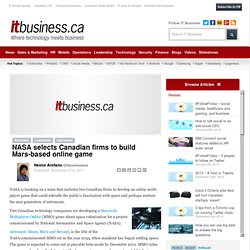 NASA selects Canadian firms to build Mars-based online game