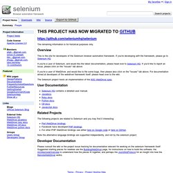 selenium - Browser automation framework
