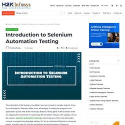 QA Selenium Training Classes Online