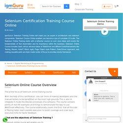 Selenium Certification Course