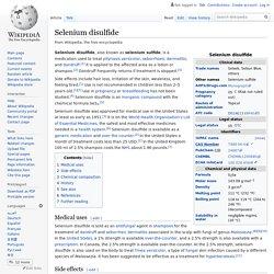 Selenium disulfide