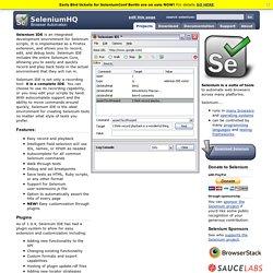 Selenium IDE Plugins