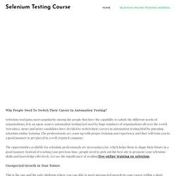 selenium webdriver for beginners