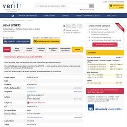 Société ALNA SPORTS à SELESTAT (Chiffre d'affaires, bilans, résultat) avec Verif.com - Siren 500623673