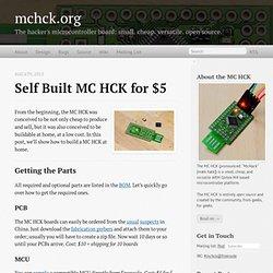 Self built MC HCK for $5 - mchck.org