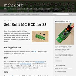 Self built MC HCK for $5 - mchck.org