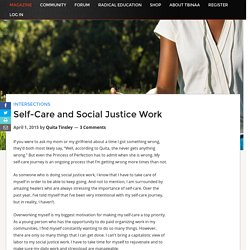 Self-Care and Social Justice Work