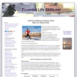 Self-Confidence Action Plan How To Start One