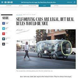 Self-Driving Cars Are Legal, But Real Rules Would Be Nice
