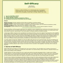 Self-efficacy defined
