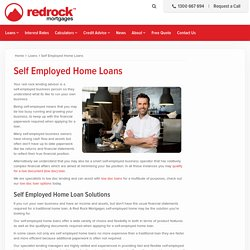 Self Employed Home Loans - Red Rock Mortgages