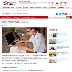 Self-Employment Tax 101