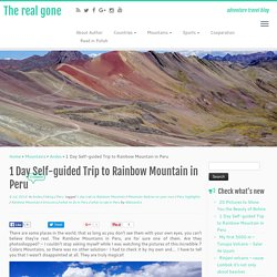 1 Day Self-guided Trip to Rainbow Mountain in Peru