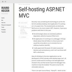 Self-hosting ASP.NET MVC