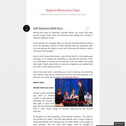 Hypnosis Shows in Las Vegas