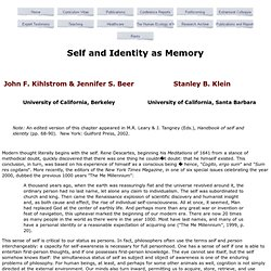 Self Identity Memory