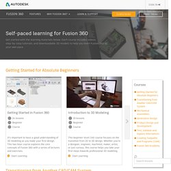 Self-paced learning for Fusion 360