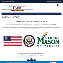 Self Paced MOOCs