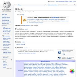 Self-pity - Wikipedia