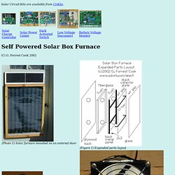 Self Powered Solar Box Furnace