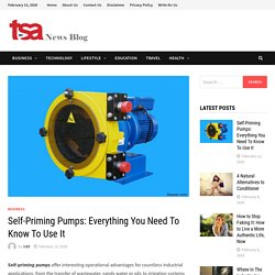 Self-Priming Pumps: Everything You Need To Know To Use It - At TSA