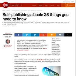 Self-publishing a book: 25 things you need to know | Fully Equipped