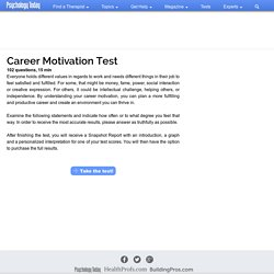 Self Tests by Psychology Today