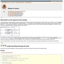 SELFHTML: Feuilles de style CSS / Propriétés CSS / Marges et espace