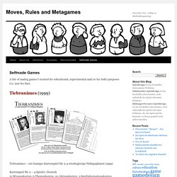 Moves, Rules and Metagames