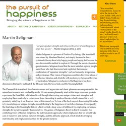 Martin Seligman and Positive Psychology