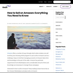 How to Sell on Amazon: Everything You Need to Know