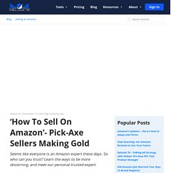 'How To Sell On Amazon'- Pick-Axe Sellers Making Gold