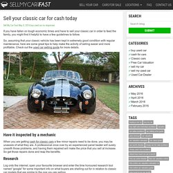Sell your classic car for cash today -