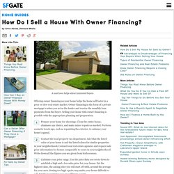 How Do I Sell a House With Owner Financing?