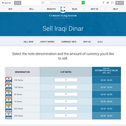 Sell Iraqi Dinar at Best Exchange Rate