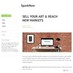 SELL YOUR ART & REACH NEW MARKETS – SparkNow