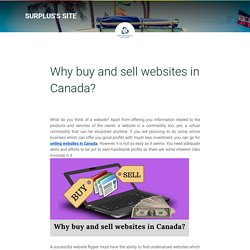 Why buy and sell websites in Canada?