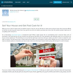 Sell Your House and Get Fast Cash for it