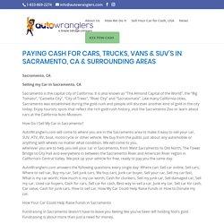 Sell Your Car for Cash, Sacramento, CA - Auto Wranglers
