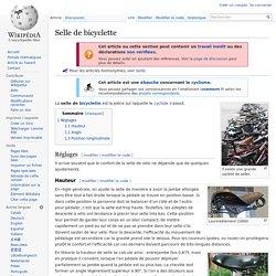 Selle de bicyclette