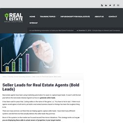 Seller Leads for Real Estate Agents (Bold Leads)