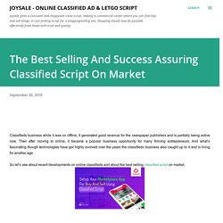 The Best Selling And Success Assuring Classified Script On Market