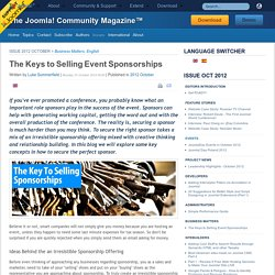 The Keys to Selling Event Sponsorships