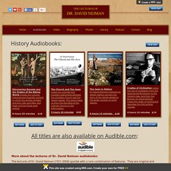 Best Historical Audiobooks and lectures - Dr. David Neiman