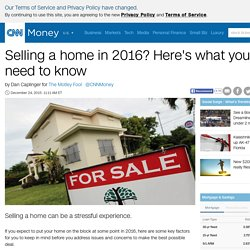 Selling a home in 2016? Here's what you need to know - Dec. 24, 2015