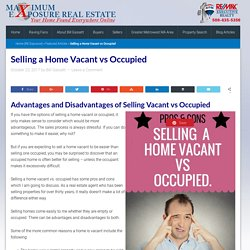 Selling a Home Vacant vs Occupied