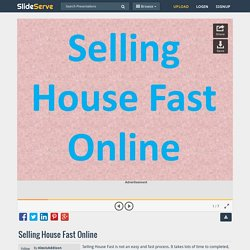 Selling House Fast Online